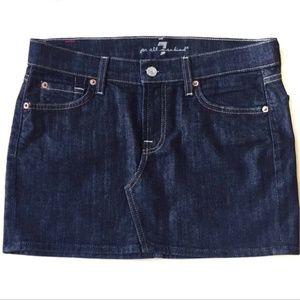 7 For All Mankind Roxy Denim Skirt